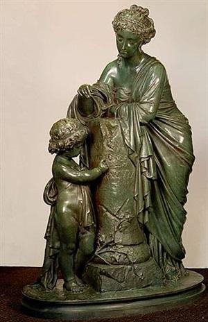 l'enfance de tacite, <i>c. 1880</i> by eugene-antoine aizelin