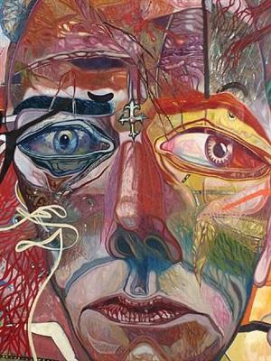 self-portrait (detail) by warren heard