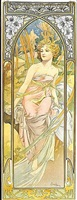 times of the day, eveil du matin by alphonse mucha