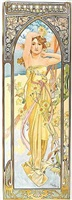times of the day, eclat du jour by alphonse mucha