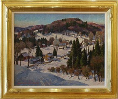 vermont village by donald allen mosher