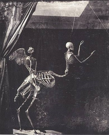 cupid and centaur in the meuseum of love, marseille by joel-peter witkin
