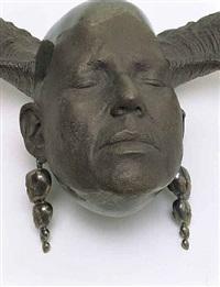 <!--62-->ram's head (wall) (detail) by rona pondick