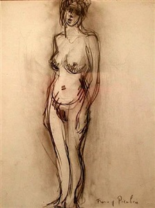 nu debout, c. 1902 by francis picabia