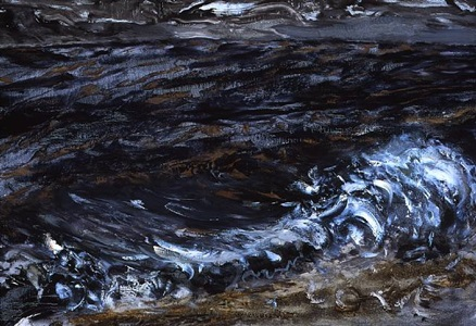 wave breaking, early morning, august by maggi hambling