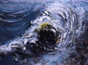 wave breaking, october ii by maggi hambling