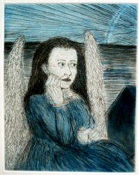 melancholia (from the series blue prints) by kiki smith