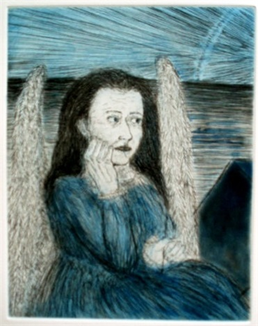 melancholia from the series blue prints by kiki smith
