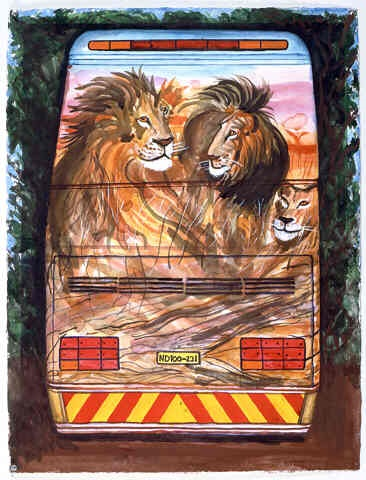 south africa bus by malcolm morley