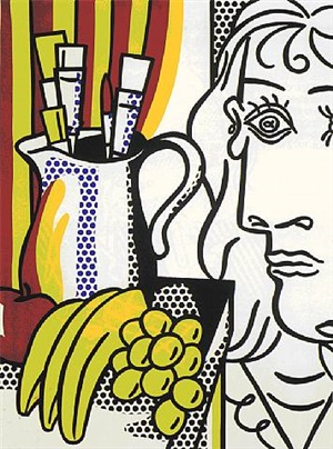 still life with picasso by roy lichtenstein