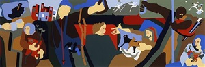 new york in transit ii by jacob lawrence