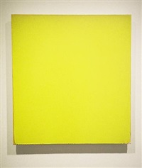 yellow painting (see checklist below #5) by joseph marioni