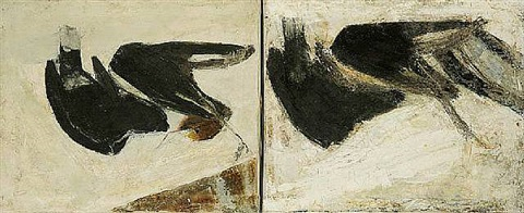 birds (diptych) by frank bowling