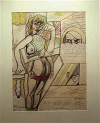 pop art with willem de kooning's face by emilio cruz
