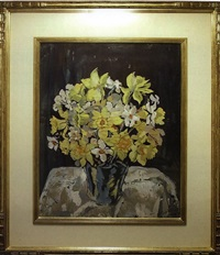 still life with daffodils by bertha de hellebranth