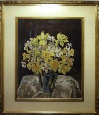 still life with daffodils by bertha de hellebranth
