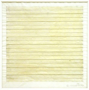 line and surface works on paper by agnes martin
