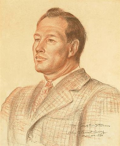 portrait of justin sturm by john steuart curry
