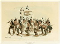 snow-shoe dance by george catlin