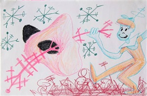 elroy and stick by kenny scharf