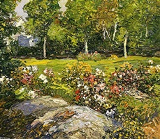 the studio garden - sold by edward willis redfield