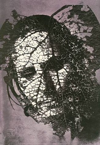 edith in panama: leaf mask by emmet gowin