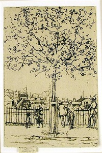 chelsea embankment, june, 5 pm by theodore casimir roussel