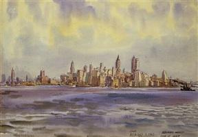 new york from bedloe's island by reginald marsh