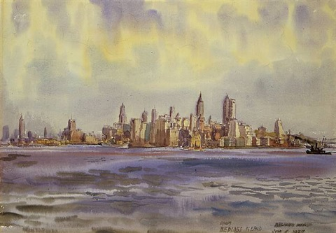 new york from bedloe's island by reginald marsh