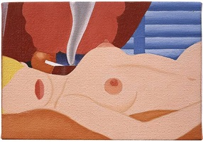 study for sedre nude print by tom wesselmann