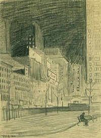 42nd street from bryant park by george copeland ault