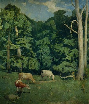the wood pasture by emil carlsen