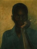 black boy smoking a cigarette, circa 1930's by james (w.o.) thompson