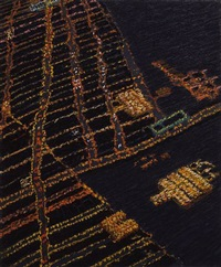 vancouver from jet plane by yvonne jacquette