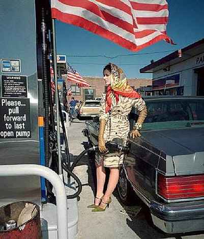 fashion shoot (flag), new york by martin parr