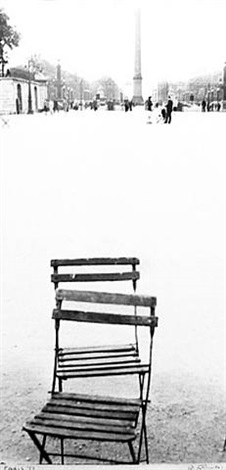 chairs, paris, 1949 by robert frank