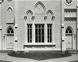 white church facade, rahway, new jersey by wright morris