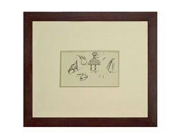 recto: sheet of sketches by edward hopper