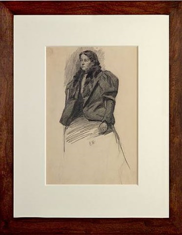 recto: young woman with a coat and a scarf by edward hopper
