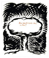 untitled (atom bomb) by raymond pettibon