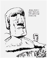 untitled (easter island) by raymond pettibon