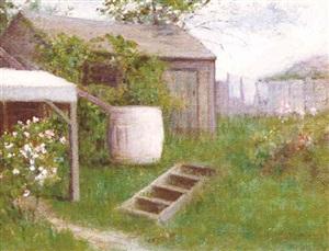 backyard in summer by helen mary knowlton