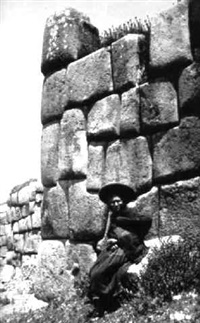 campesina in sacsayhuaman, peru (100573) by martín chambi