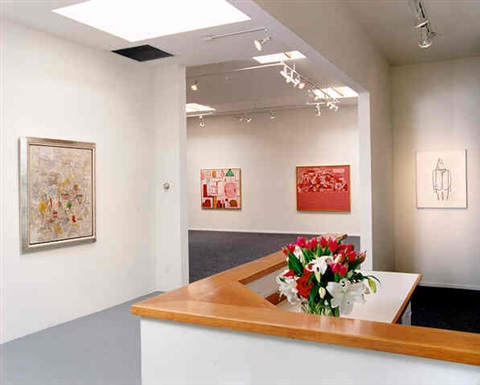 installation view #1 by philip guston