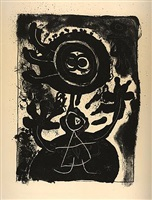grand personnage noir (large balck figure) by joan miró