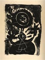grand personnage noir (large balck figure) by joan miró