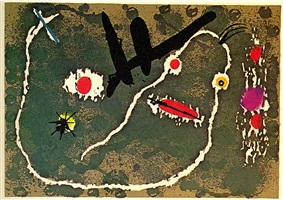 lizard with the golden feathers by joan miró