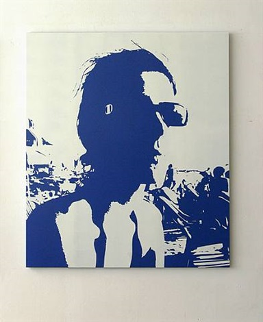portrait (blue) by tim ayres