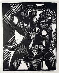 two female nudes (also known as the dancers) by marguerite thompson zorach