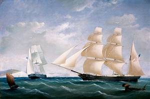 the barque scotland off dover in two positions by tudgay family